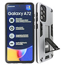 Stand Hardcase Backcover Samsung Galaxy A72 5G Zilver
