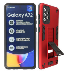 Stand Hardcase Backcover Samsung Galaxy A72 5G Rood