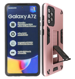 Stand Hardcase Backcover Samsung Galaxy A72 5G Roze