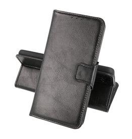 Zakelijke Book Case Telefoonhoesje OnePlus 9R Zwart