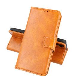 Zakelijke Book Case Telefoonhoesje Oppo Reno 5 Pro Bruin