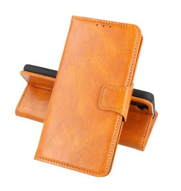 Zakelijke Book Case Telefoonhoesje Oppo Reno 5 Z Bruin