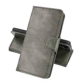 Zakelijke Book Case Telefoonhoesje Samsung Galaxy A22 4G Donker Groen