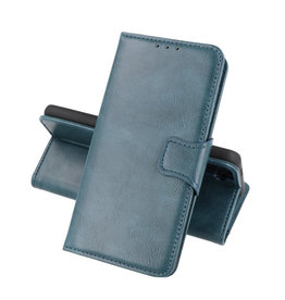 Zakelijke Book Case Telefoonhoesje Samsung Galaxy A22 5G Blauw