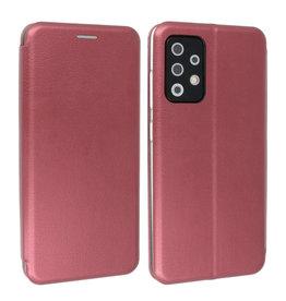 Slim Folio Book Case Samsung Galaxy A72 / 5G Bordeaux Rood