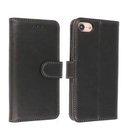 Microvezel Book Case Hoesje iPhone SE 2020 Zwart