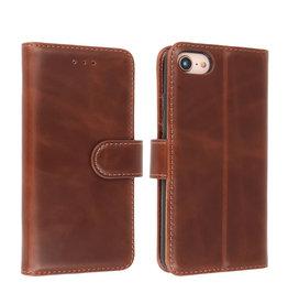 Microvezel Book Case Hoesje iPhone SE 2020 Mocca