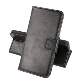 Zakelijke Book Case Telefoonhoesje Oppo A53s Zwart