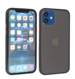 iPhone 12 Mini Hoesje Hard Case Backcover Telefoonhoesje Zwart