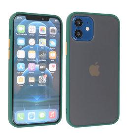 iPhone 12 Mini Hoesje Hard Case Backcover Telefoonhoesje Donker Groen