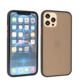 iPhone 12 & iPhone 12 Pro Hoesje Hard Case Backcover Telefoonhoesje Zwart