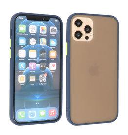 iPhone 12 & iPhone 12 Pro Hoesje Hard Case Backcover Telefoonhoesje Blauw