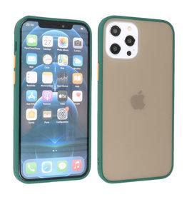 iPhone 12 Pro Max Hoesje Hard Case Backcover Telefoonhoesje Donker Groen
