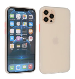 iPhone 12 & iPhone 12 Pro Hoesje Hard Case Backcover Telefoonhoesje Wit