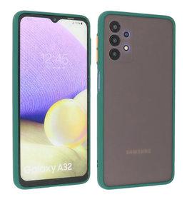 Samsung Galaxy A32 4G Hoesje Hard Case Backcover Telefoonhoesje Donker Groen