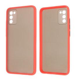 Samsung Galaxy A02s Hoesje Hard Case Backcover Telefoonhoesje Rood