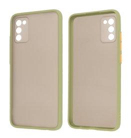 Samsung Galaxy A02s Hoesje Hard Case Backcover Telefoonhoesje Groen