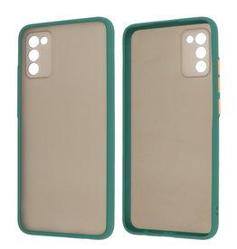 Samsung Galaxy A02s Hoesje Hard Case Backcover Telefoonhoesje Donker Groen