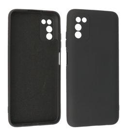 Samsung Galaxy A03s Hoesje Fashion Backcover Telefoonhoesje Zwart