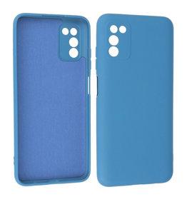 Samsung Galaxy A03s Hoesje Fashion Backcover Telefoonhoesje Navy