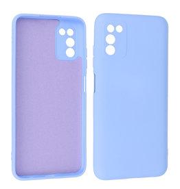Samsung Galaxy A03s Hoesje Fashion Backcover Telefoonhoesje Paars