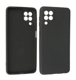 Samsung Galaxy A22 4G Hoesje Fashion Backcover Telefoonhoesje Zwart