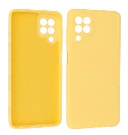 Samsung Galaxy A22 4G Hoesje Fashion Backcover Telefoonhoesje Geel