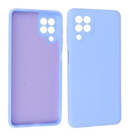 Samsung Galaxy A22 4G Hoesje Fashion Backcover Telefoonhoesje Paars