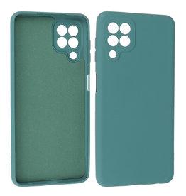Samsung Galaxy A22 4G Hoesje Fashion Backcover Telefoonhoesje Donker Groen