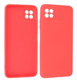 Samsung Galaxy A22 5G Hoesje Fashion Backcover Telefoonhoesje Rood