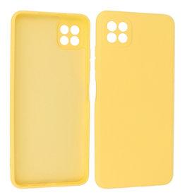 Samsung Galaxy A22 5G Hoesje Fashion Backcover Telefoonhoesje Geel