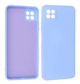 Samsung Galaxy A22 5G Hoesje Fashion Backcover Telefoonhoesje Paars