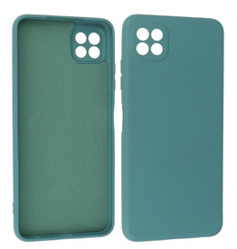 Samsung Galaxy A22 5G Hoesje Fashion Backcover Telefoonhoesje Donker Groen