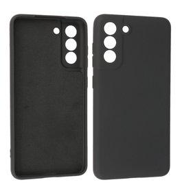 Samsung Galaxy S21 FE Hoesje Fashion Backcover Telefoonhoesje Zwart