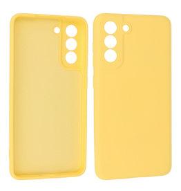 Samsung Galaxy S21 FE Hoesje Fashion Backcover Telefoonhoesje Geel