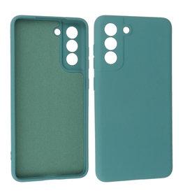 Samsung Galaxy S21 FE Hoesje Fashion Backcover Telefoonhoesje Donker Groen