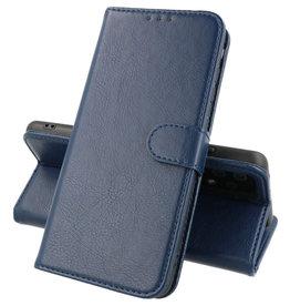 Motorola Moto Edge 20 Pro Hoesje Kaarthouder Book Case Telefoonhoesje Navy