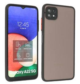Samsung Galaxy A22 5G Hoesje Hard Case Backcover Telefoonhoesje Zwart