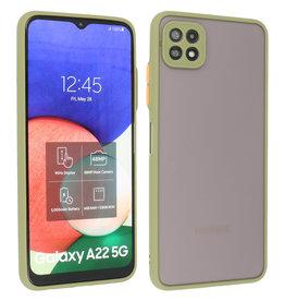 Samsung Galaxy A22 5G Hoesje Hard Case Backcover Telefoonhoesje Groen