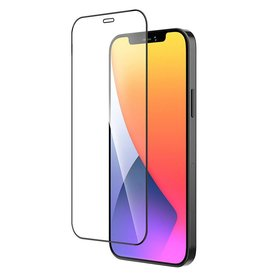 MF 9D Gehard Tempered Glass Screenprotector iPhone 12 Pro Max Zwart