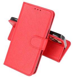 iPhone 13 Pro Hoesje Kaarthouder Book Case Telefoonhoesje Rood
