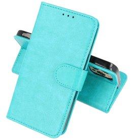 iPhone 13 Pro Hoesje Kaarthouder Book Case Telefoonhoesje Groen