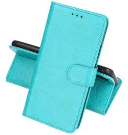 Huawei P30 Lite Hoesje Kaarthouder Book Case Telefoonhoesje Groen