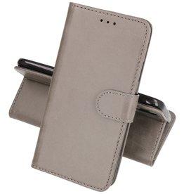Huawei P30 Lite Hoesje Kaarthouder Book Case Telefoonhoesje Grijs