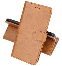 Huawei P20 Lite Hoesje Kaarthouder Book Case Telefoonhoesje Bruin