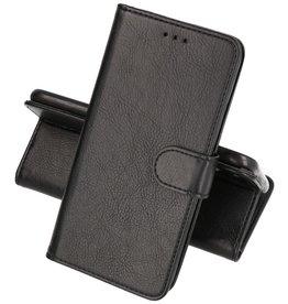 Huawei P20 Lite Hoesje Kaarthouder Book Case Telefoonhoesje Zwart
