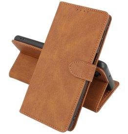 Samsung Galaxy A12 Hoesje Book Case Telefoonhoesje Bruin
