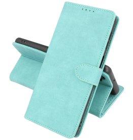 iPhone 13 Hoesje Book Case Telefoonhoesje Turquoise