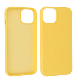 iPhone 13 Mini Hoesje Fashion Backcover Telefoonhoesje Geel