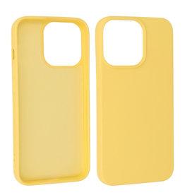iPhone 13 Pro Hoesje Fashion Backcover Telefoonhoesje Geel